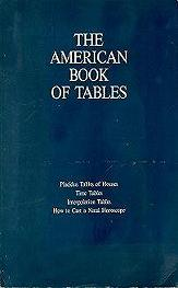 The american book of tables